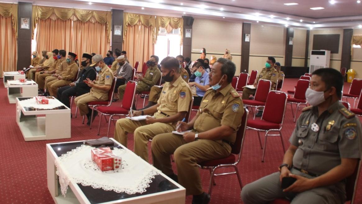 Suasana Rapat persiapan pelaksanaan MTQ Tingkat Provinsi oleh Pemerimtah Kabupaten Kolaka. (FOTO : YUSRI)